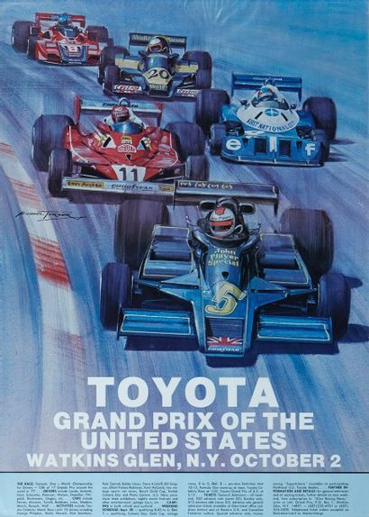 Grand Prix des Etats-Unis 1977 Affiche originale...