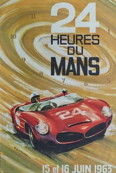 24 Heures du Mans 1963 Affiche originale...