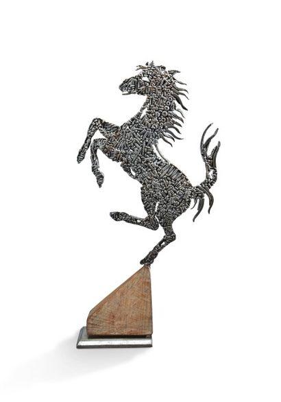 Ferrari Sculpture représentant le cheval...