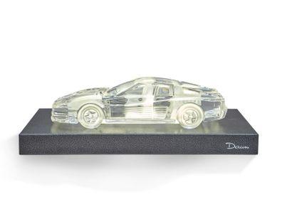 Ferrari Scultpure en cristal représentant...