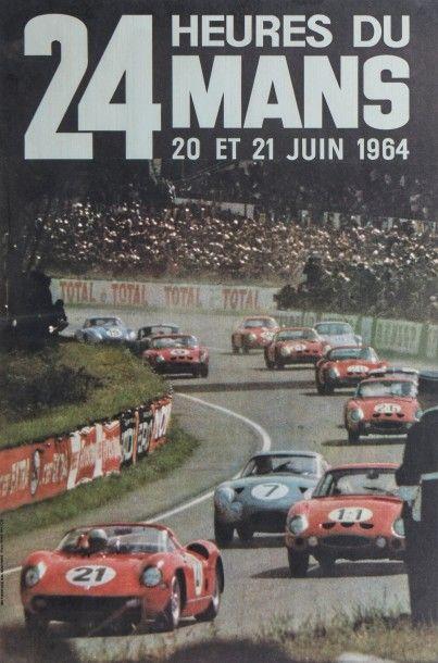 24 Heures du Mans 1964 Affiche originale...