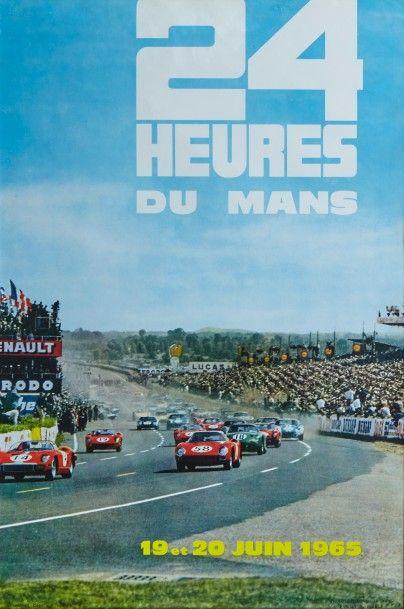 24 Heures du Mans 1965 Affiche originale...