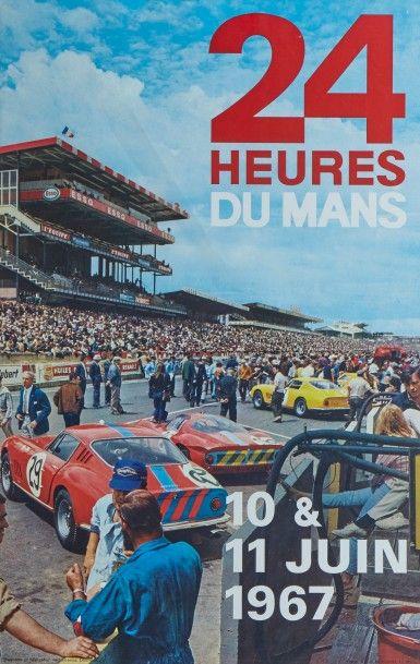 24 Heures du Mans 1967 Affiche originale...