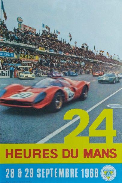 24 Heures du Mans 1968 Affiche originale...
