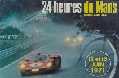 24 Heures du Mans 1971 Affiche originale...