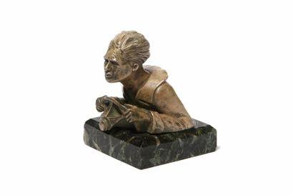 LE COUREUR En bronze, éditions Bona-Fizel,...