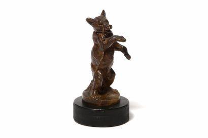 L'OURS DE BOHÊME Par Louis Carvin En bronze,...