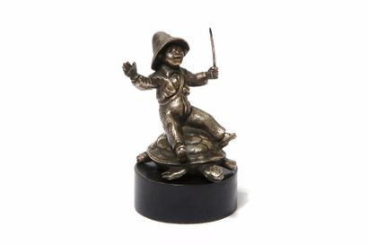 RIEN NE SERT DE COURIR Par Prades En bronze...