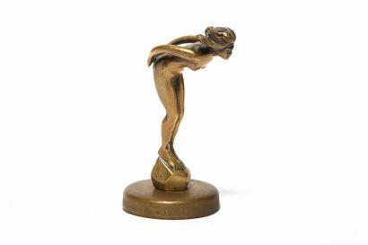 La petite plongeuse Bronze patiné Bronze...