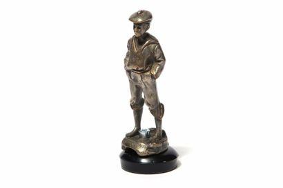 Le Mousse Siffleur 1925 Bronze argenté Haut.:...