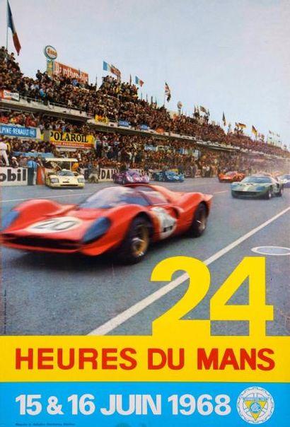 24 Heures du Mans 1968 Affiche Imp. Oberthur...