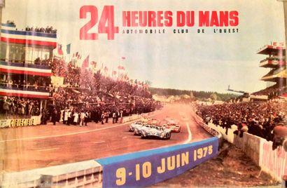 24 Heures du Mans 1973 Affiche. Impression...
