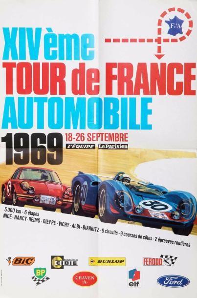 Affiche originale du Tour de France Automobile...