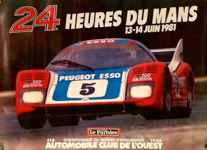 24 Heures du Mans 1981 Affiche originale....