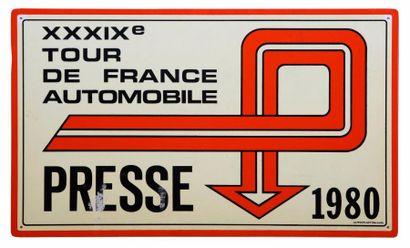 Plaque de rallye du TDF Automobile 1980 -...