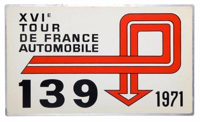 Plaque de rallye du TDF Automobile 1971
