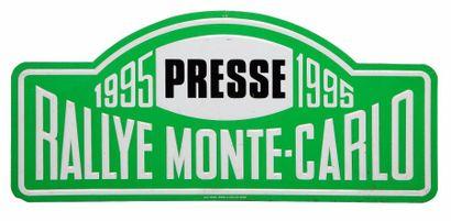 Plaque Rallye Monte-Carlo 1995 - Presse
