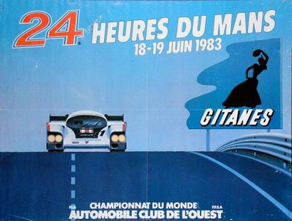 24 Heures du Mans 1983 Affiche. Impression...