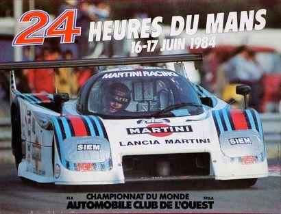 24 Heures du Mans 1984 Affiche. Impression...