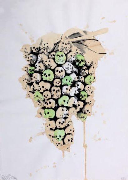 LUDO (né en 1976) Grapes of Wrath Skulls, 2010 Affiche sérigraphiée avec rehauts...