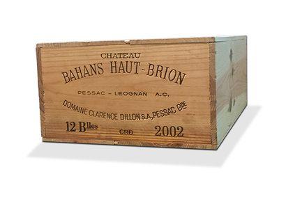 12 B CHÂTEAU BAHANS HAUT-BRION (Caisse Bois)...