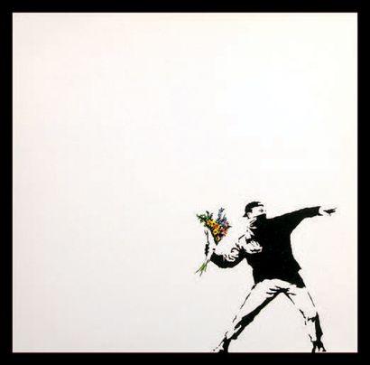 BANKSY (NÉ EN 1974) Miami Vice, 2008 Offset/pochette de disque, disque 33t 30 x 30...