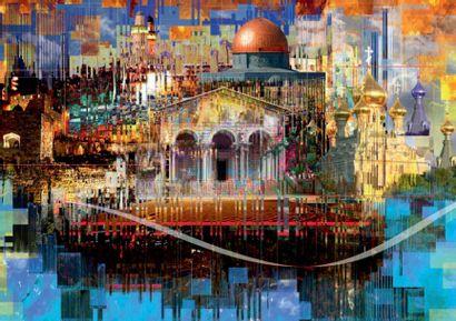 YVES BADYH (XX-XXI) Jerusalem, 2016 Subligraphie rehaussée à la main, exemplaire...
