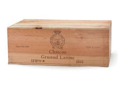12 B CHÂTEAU GRUAUD LAROSE (Caisse Bois) GCC2 Saint-Julien 2002 Caisse Bois d'Origine...