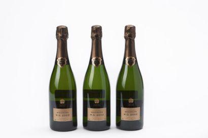 3 BOUTEILLES BOLLINGER R.D. 2002, Champagne,...