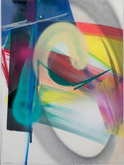 SMASH 137 (né en 1979) Untitled 1, 2014 Bombe aérosol, acrylique et encre sur papier,...