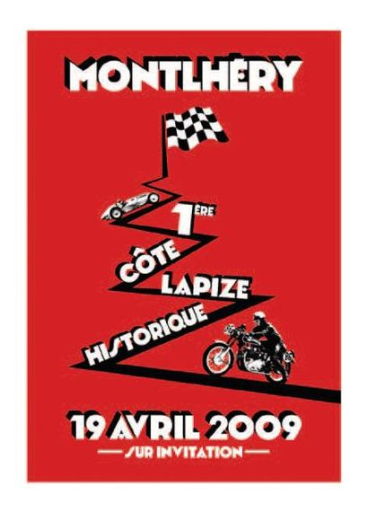 ANTOINE PASCAL Côte Lapize Historique 2009 sérigraphie réalisée à la main par l'artiste,...