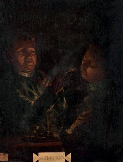 <br/>ÉCOLE HOLLANDAISE VERS 1800, SUIVEUR DE GODFRIED SCHLACKEN