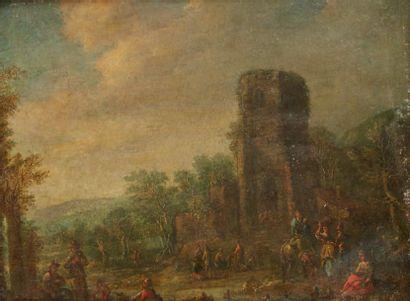 ÉCOLE FLAMANDE DU XVIIIE SIÈCLE, SUIVEUR DE MATHYS SCHOEVAERDTS