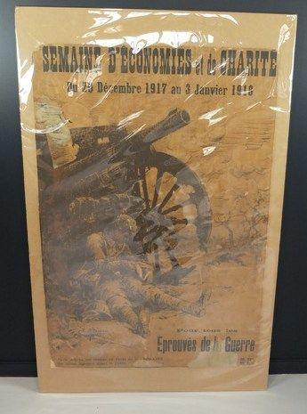 Lot de 2 affiches: A. Barbier «Semaine...