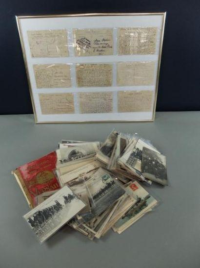 Lot de cartes postales; photos; découpis; carnet de cartes postales; images...