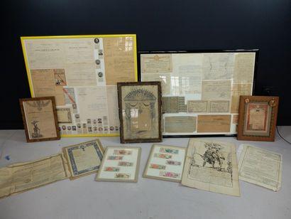 Lot de gratification, citation, congé, attestation, certificat, pension, exécution,...