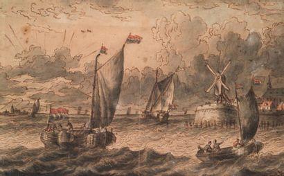 ÉCOLE HOLLANDAISE DU XVIIE SIÈCLE Marine