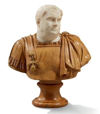 IMPORTANT BUSTE représentant l'empereur Vitellio...