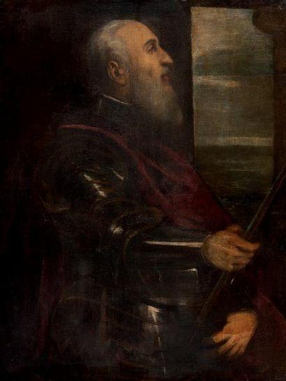 Ecole vénitienne du XVIIe siècle, entourage du TINTORET Portrait d'un amiral Vénitien...