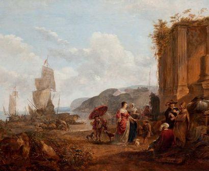 ATTRIBUÉ À CAREL VAN FALENS (1683-1723)