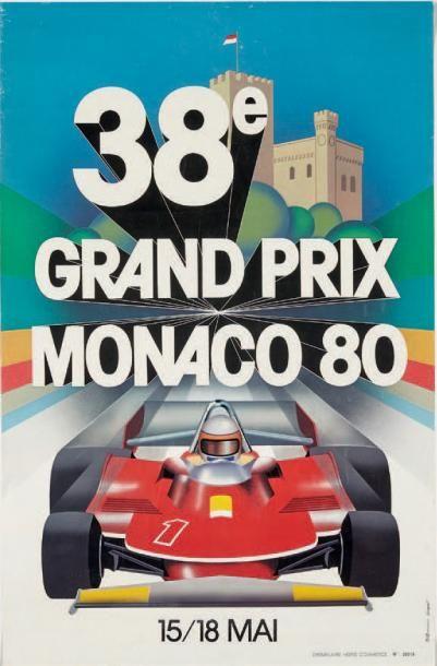 GRAND PRIX DE MONACO 1980 Affiche originale...