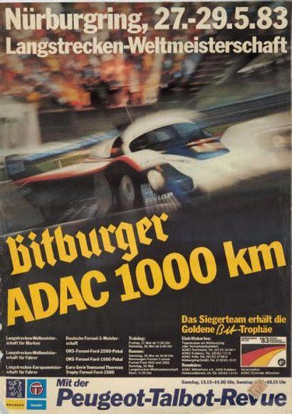 PORSCHE Lot de 6 affiches: - 1000 km du Nürburgring...