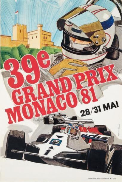 GRAND PRIX DE MONACO 1981 Affiche originale...