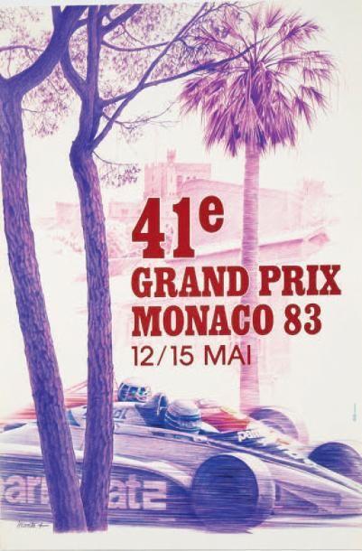 GRAND PRIX DE MONACO 1983 Affiche originale...