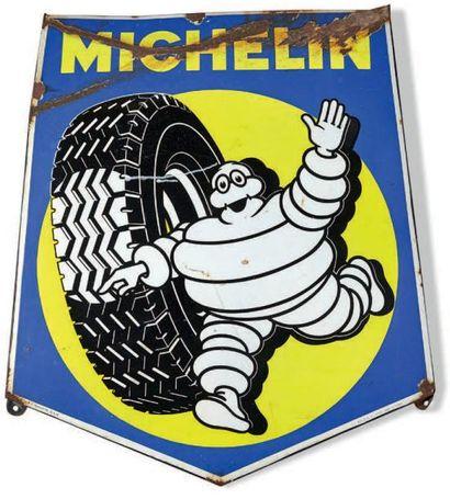 MICHELIN Plaque émaillée pentagonale Etat...