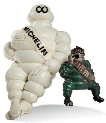 MICHELIN Lot de deux bibendums - mascotte...