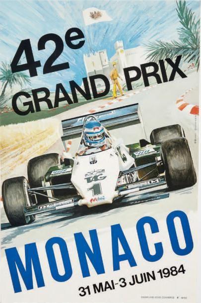 GRAND PRIX DE MONACO 1984 Affiche originale...