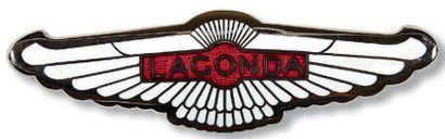 LAGONDA Badge ancien de forme incurvée en...