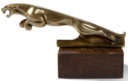 JAGUAR Mascotte en laiton Longueur: 12 cm...