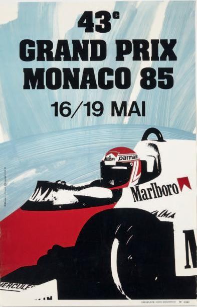 GRAND PRIX DE MOANCO 1985 Affiche originale...